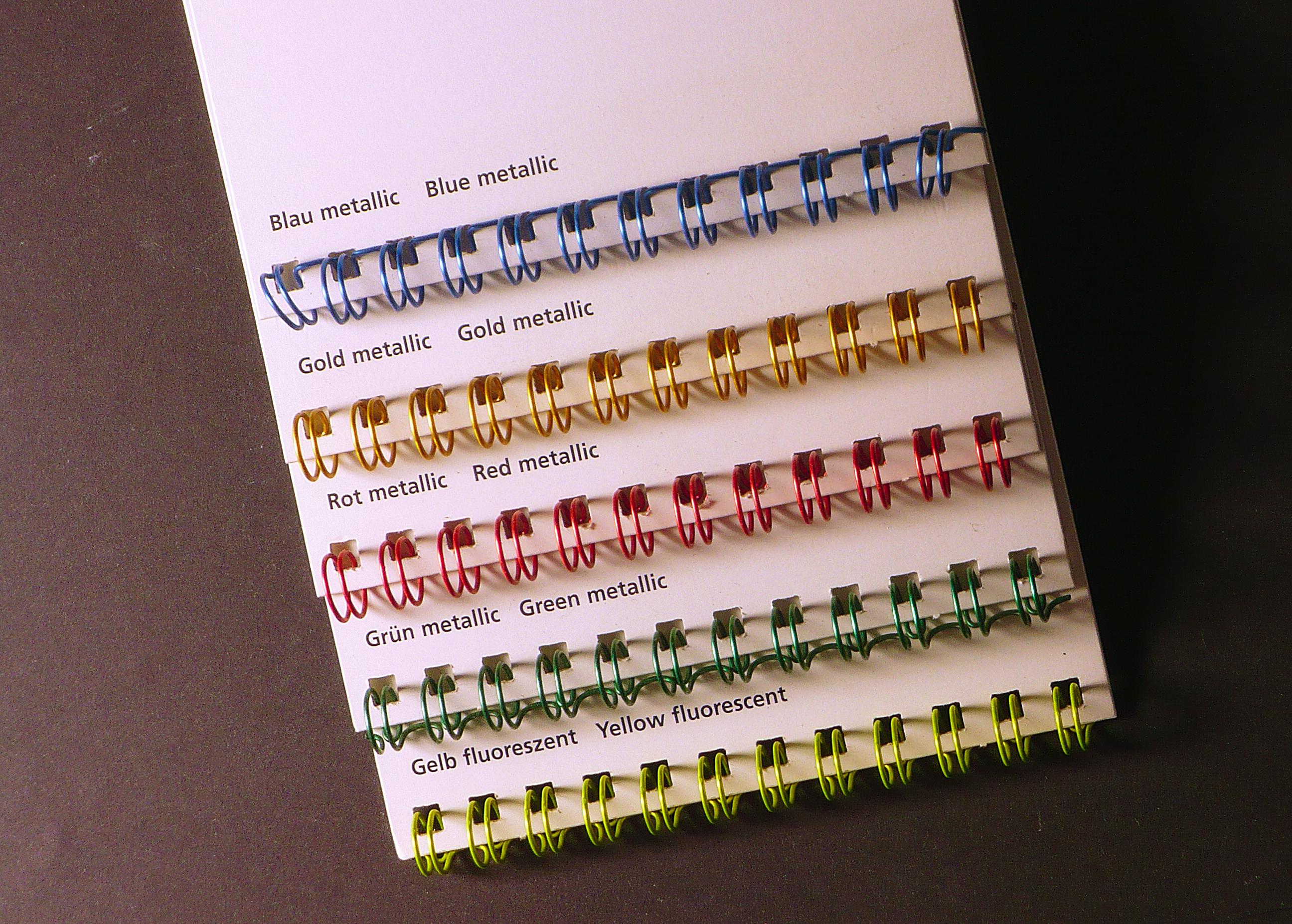 Wire O Bindungen In Special Effect Farben Tipps Tricks