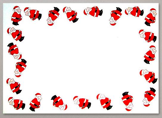 Briefumschlag mit Weihnachtsmotiv, digital zu bedrucken
