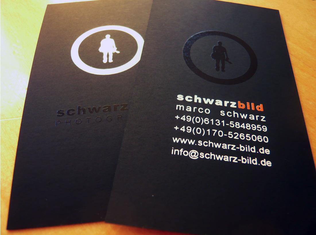 380g visitenkarte auf schwarzem karton for Visitenkarten ideen