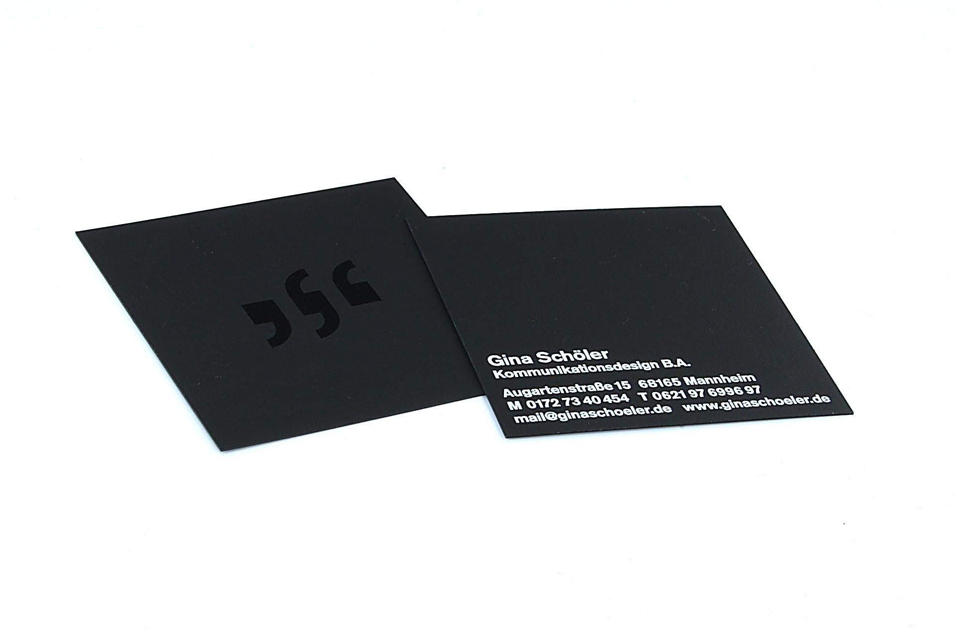 Quadratische Visitenkarten Auf Schwarzem Karton Tipps