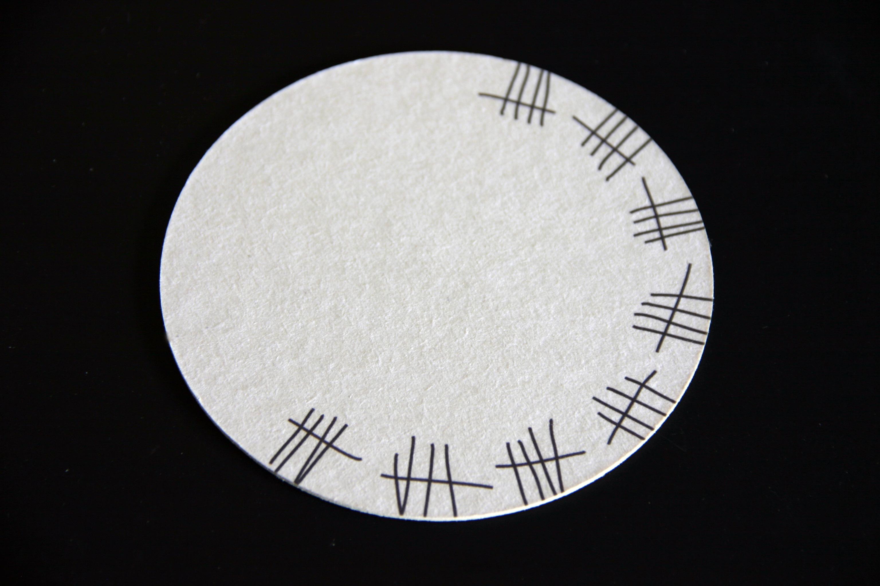 Digitaldruck auf der Bierdeckelrückseite