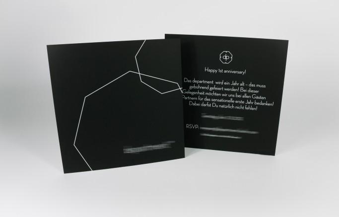 edle einladungskarte auf curious skin schwarz - tipps, tricks und, Einladungsentwurf