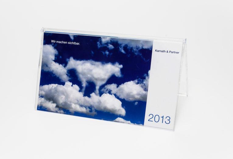 Tischkalender in Acrylbox, Digitaldruck