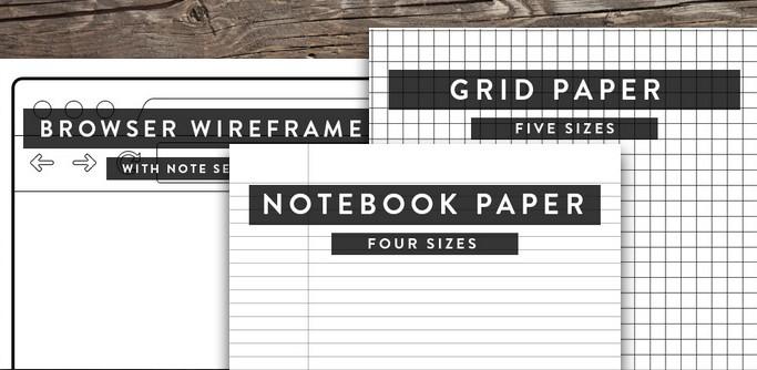33 Dateien für die Herstellung von eigenen Notizblättern und -blöcken