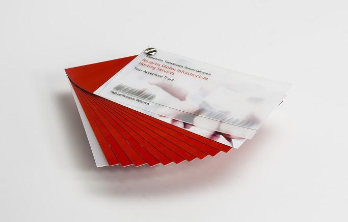 Kleine Broschüre mit Buchschraubenbindung