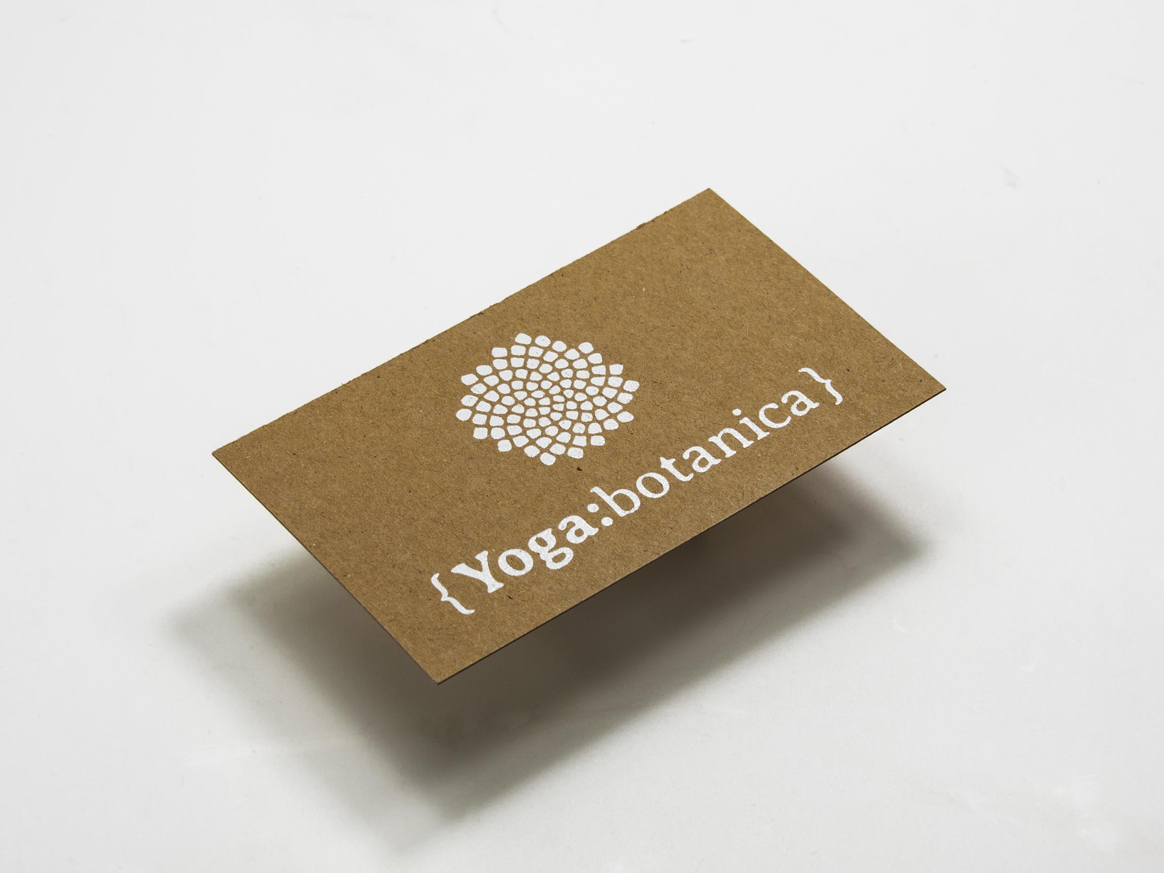 Visitenkarten Auf Kraftkarton Mit Digitalem Weißdruck