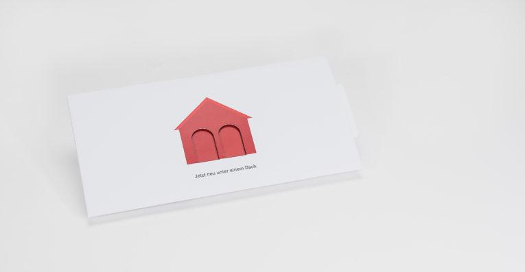 Schiebekarte im Digitaldruck