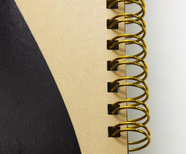 Wire-O-Bindung goldfarben