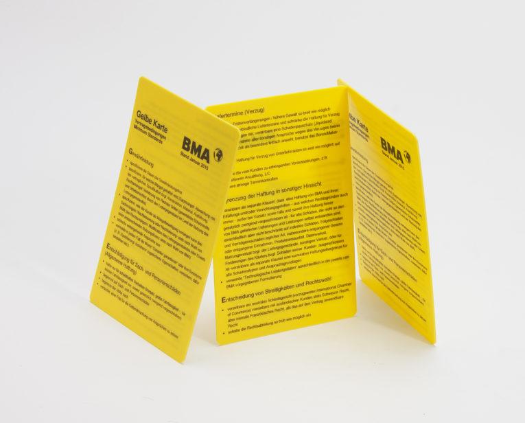 530-gelbe Karte aus Kunststoff-103x69mm-7715--1