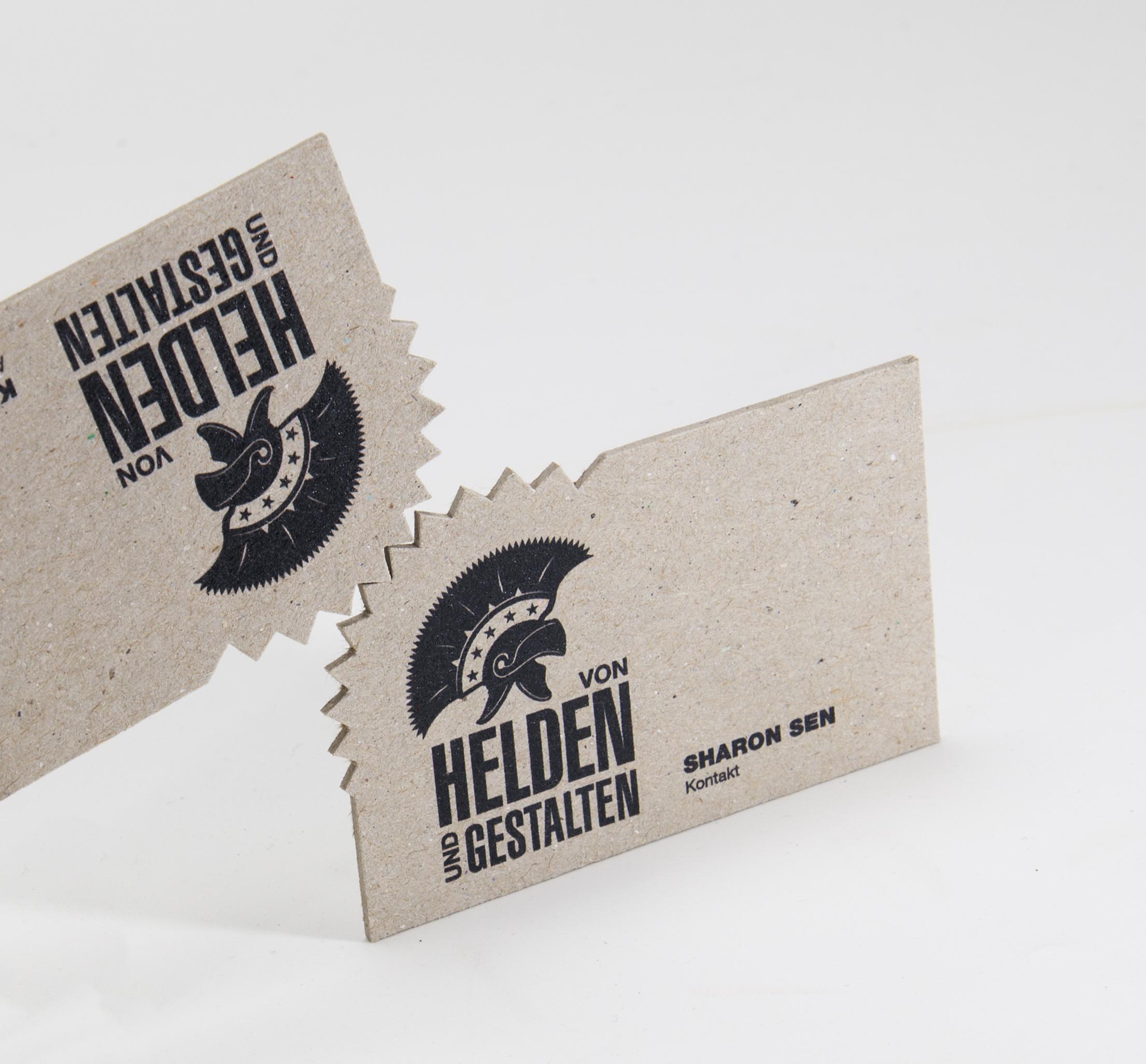Visitenkarten aus 1 5 mm starker for Visitenkarten ideen