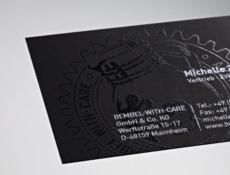 Sehr Cool Und Digital Schwarze Visitenkarte Mit