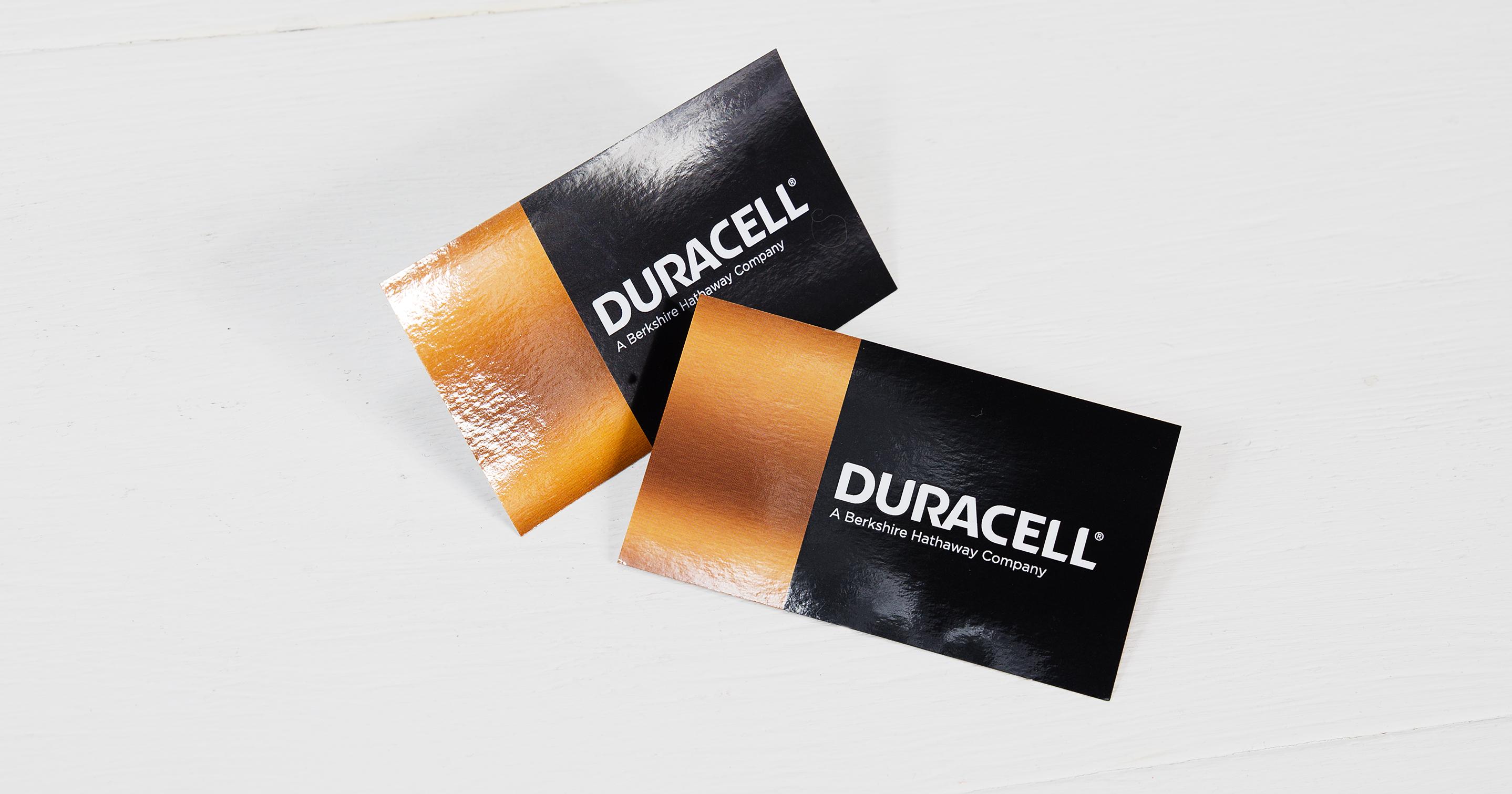 Mehr Energie Bitte High Gloss Duracell Visitenkarten