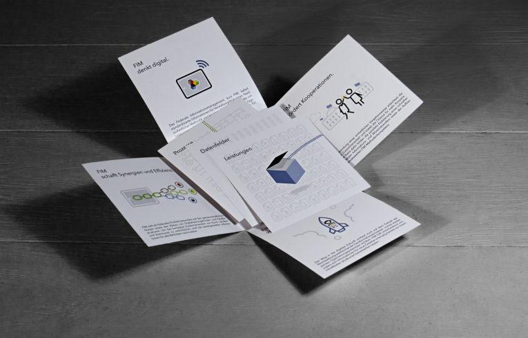 Besondere Mappe mit Kreuzklappen