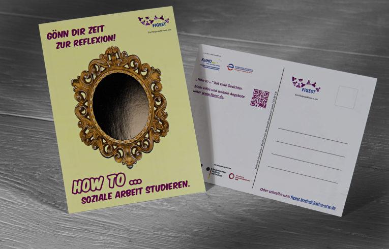 Postkarte aus Spiegelkarton