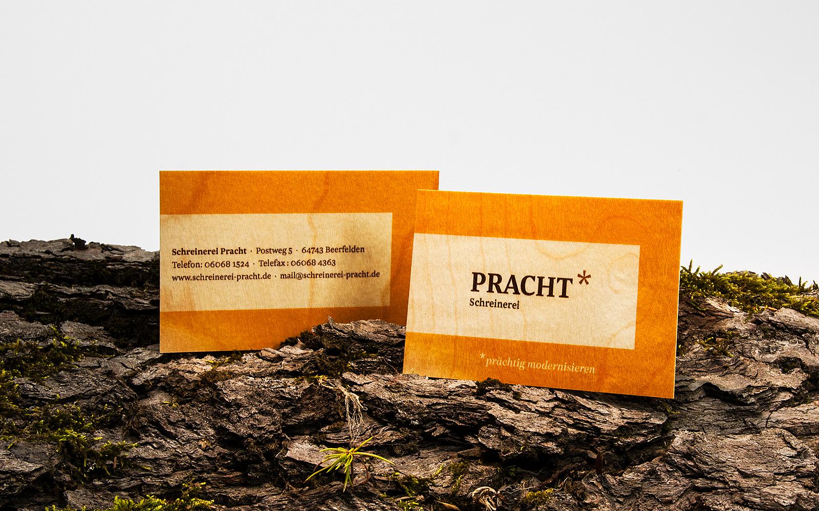 Natur Pur Visitenkarten Aus Holz Von Colour Connection De